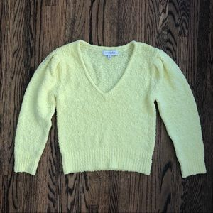 Intermix Cropped Yellow Sweater